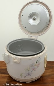 Zojirushi NRC-10 Rice Cooker with lid opened | runawayrice.com