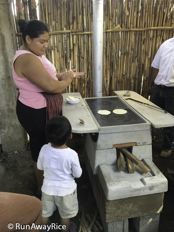 David's Mom making tortillas on the new Onil stove | runawayrice.com