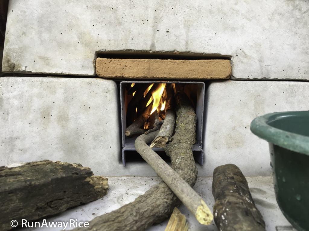 Firebox on Onil stove | runawayrice.com