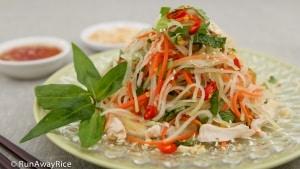 Kohlrabi Chicken Salad (Goi Su Hao Thit Ga) - crispy summer salad with a zesty dressing   recipe from runawayrice.com