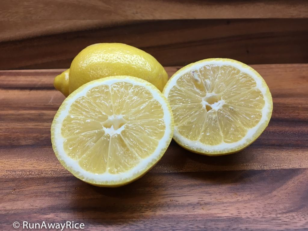 fresh lemons cut in half | runawayrice.com