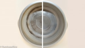 Stained Steamer vs. Clean Steamer | how to from runawayrice.com