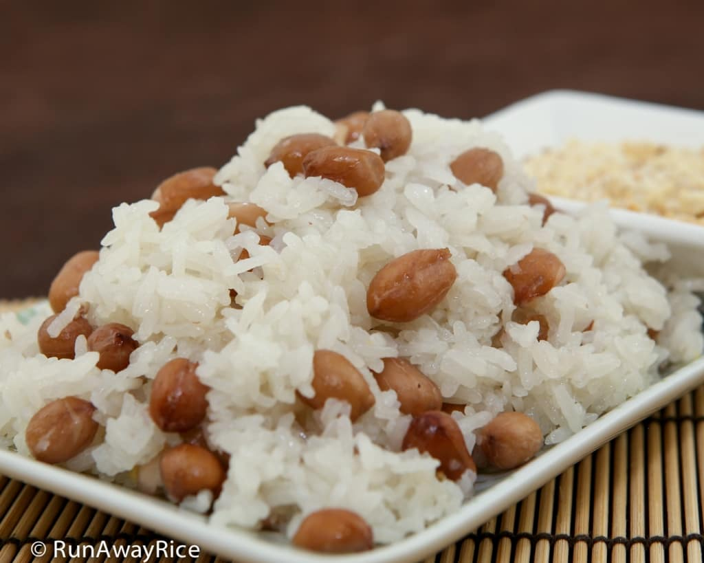 Sticky Rice and Peanuts (Xoi Dau Phong) - Easy Rice Cooker Recipe | recipe from runawayrice.com