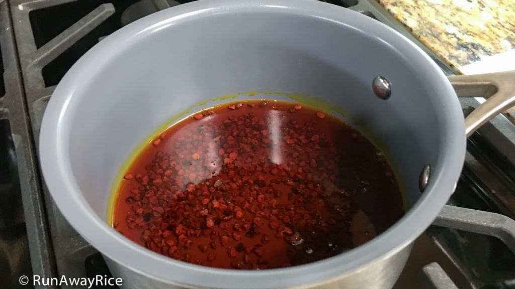 Annatto Oil /Achiote Oil (Dau Mau Dieu) - 5 Minute Recipe | recipe from runawayrice.com