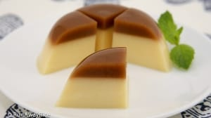 Coffee Flan Agar Jelly (Thach Flan Ca Phe) - deliciously refreshing chilled dessert! | recipe from runawayrice.com