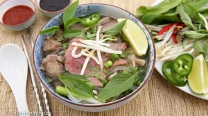 Vietnamese Beef Noodle Soup (Pho Bo) - authentic homemade recipe | recipe from runawayrice.com