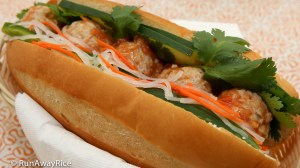 Vietnamese Meatball (Xiu Mai) Sandwich - a banh mi to try! | recipe from runawayrice.com