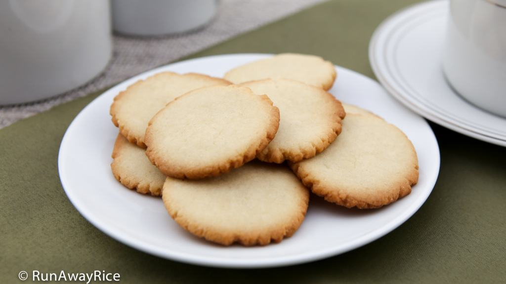 Butter Cookie Recipe - easy recipe, just 6 ingredients | recipe from runawayrice.com