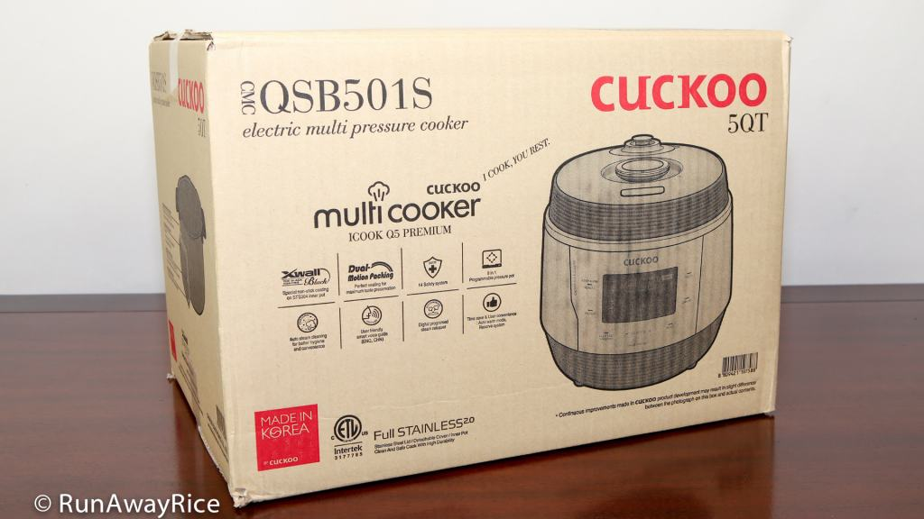 Cuckoo ICOOK Q5 - Cooker in Manufacturer's Box | recipe from runawayrice.com
