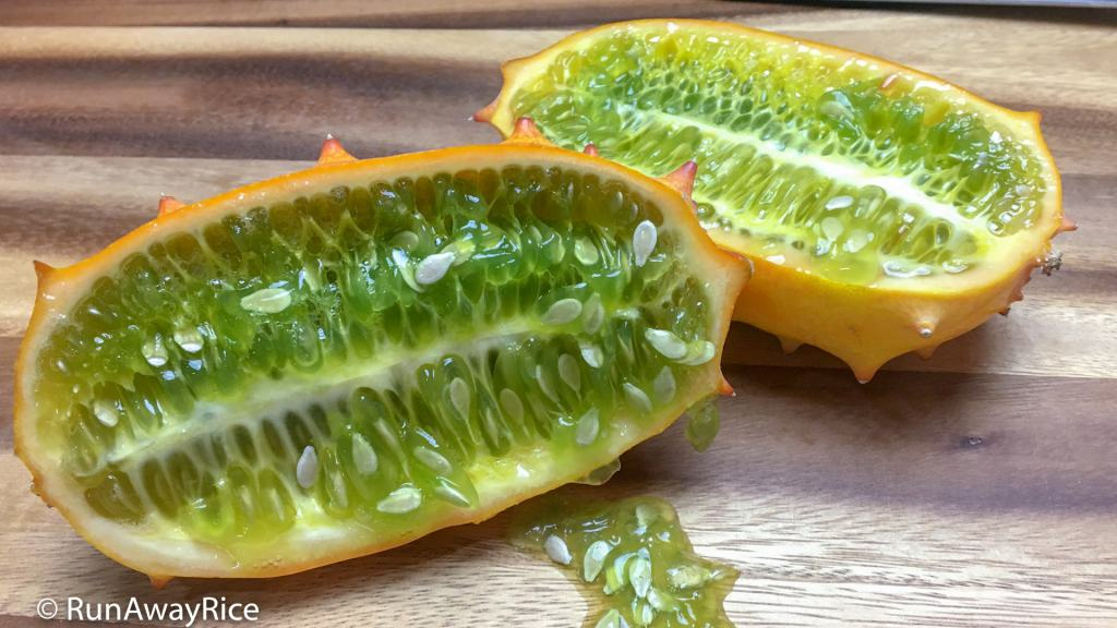 Kiwano Melon / Horned Melon - How to Eat This Exotic Fruit | runawayrice.com