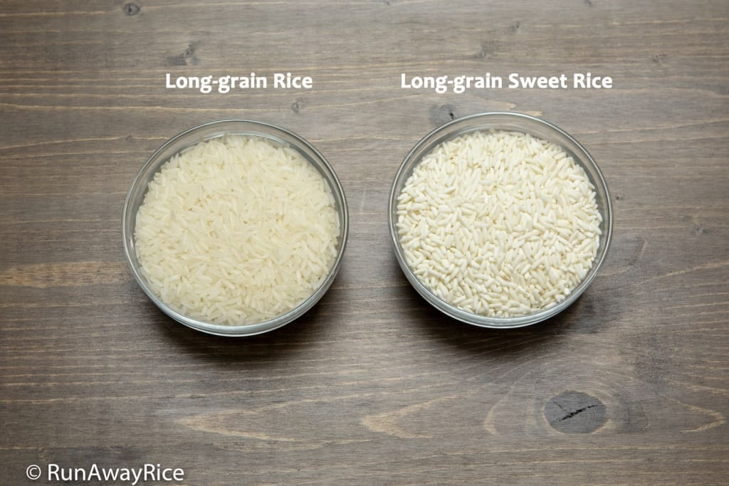 Rice Flour vs Glutinous Rice Flour - One is milled from Long-grain Rice and the other from Long-grain Sweet Rice | runawayrice.com