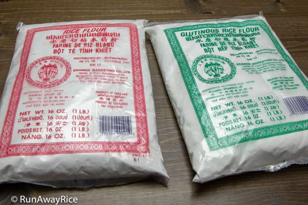 Rice Flour vs Glutinous Rice Flour - Erawan (Elephant) Brand | runawayrice.com