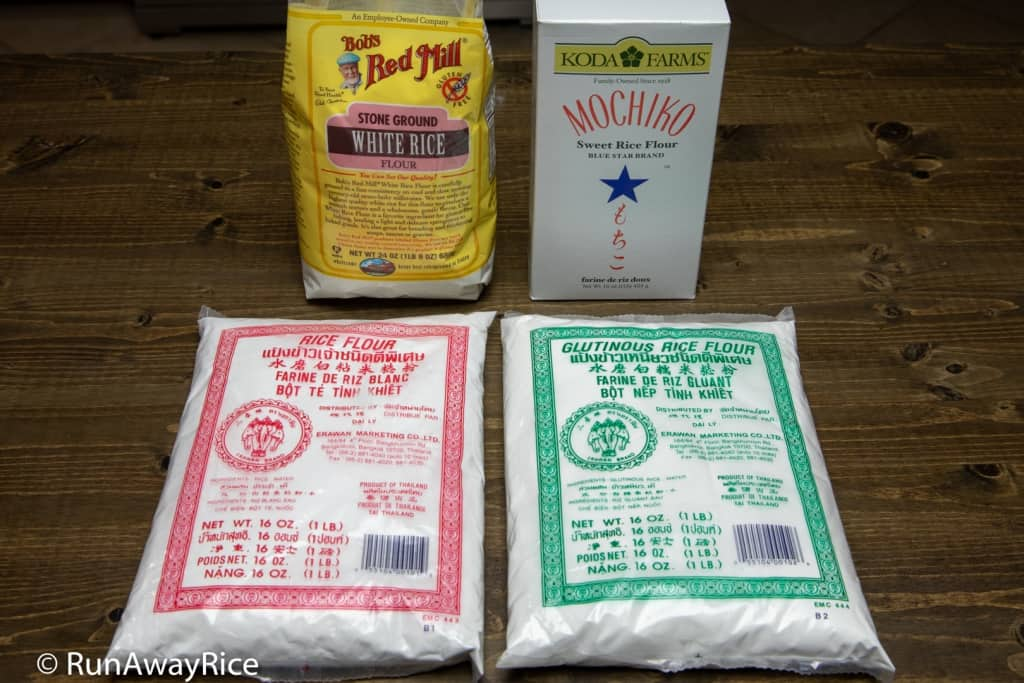 Rice Flour vs Glutinous Rice Flour - Different Brands | runawayrice.com