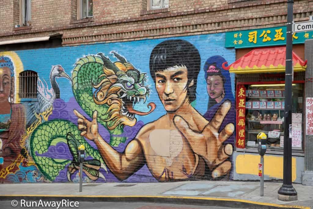 Chinatown, San Francisco - Bruce Lee Mural | runawayrice.com