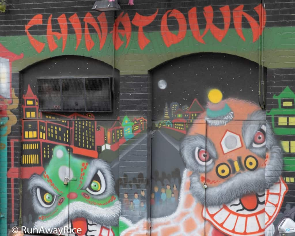 Chinatown, San Francisco - Dancing Dragons Mural | runawayrice.com