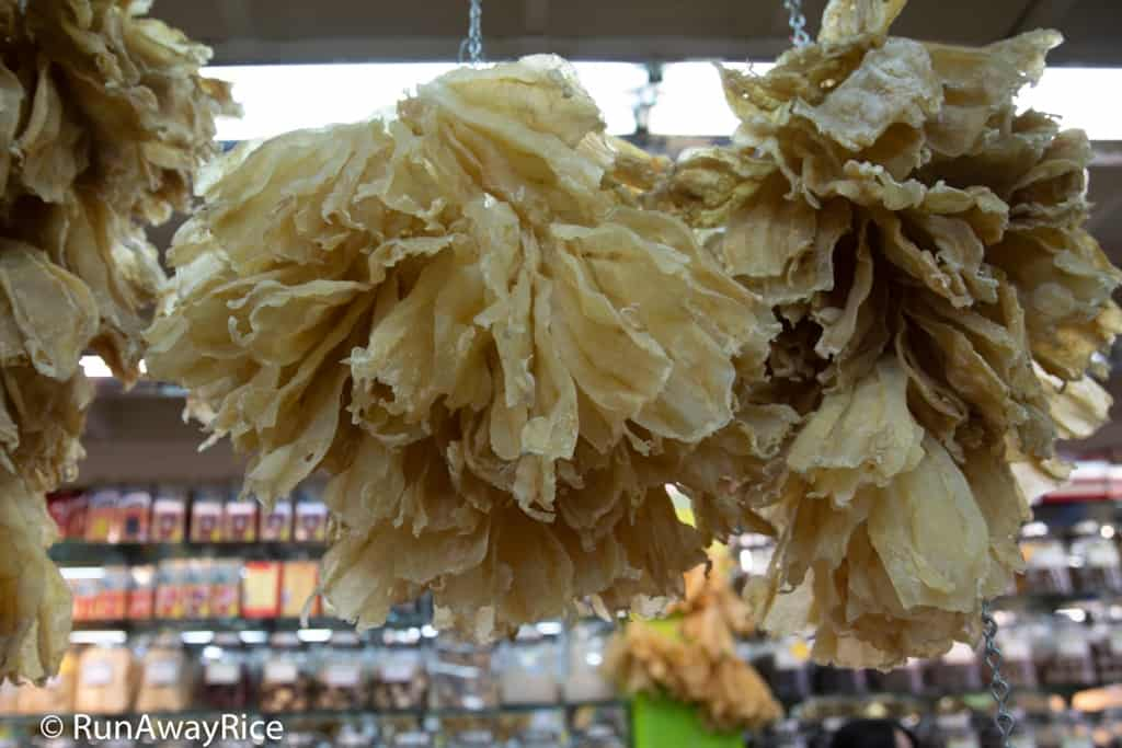 Chinatown, San Francisco - Hanging Dried Fish in an Herbal Shop | runawayrice.com