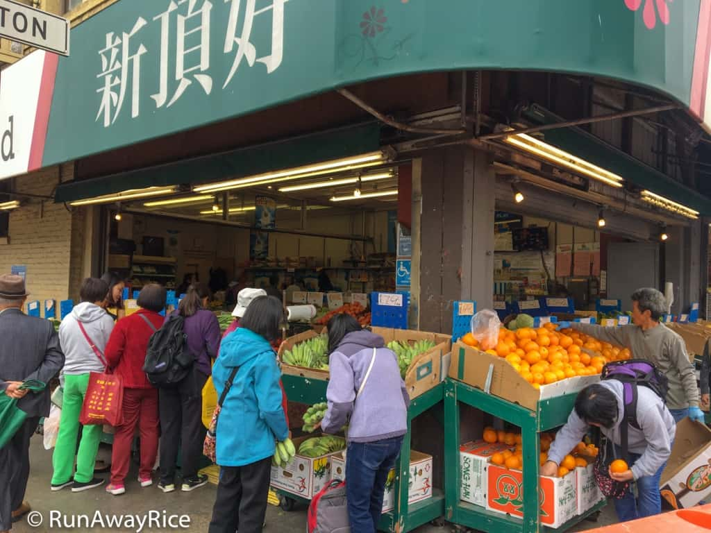 Chinatown, San Francisco - Fresh Fruit and Produce Market | runawayrice.com