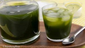 Pennywort Juice (Nuoc Rau Ma) - Low-Cal, Super Healthy Green Juice | recipe from runawayrice.com