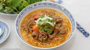 Spicy Beef Noodle Soup (Bun Bo) - Quick and Easy Recipe   recipe from runawayrice.com