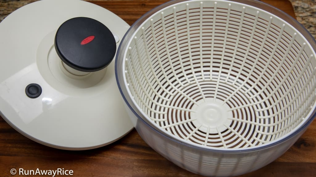 Top 5 Uses for My Salad Spinner - Oxo Salad Spinner, My Kitchen Companion | runawayrice.com