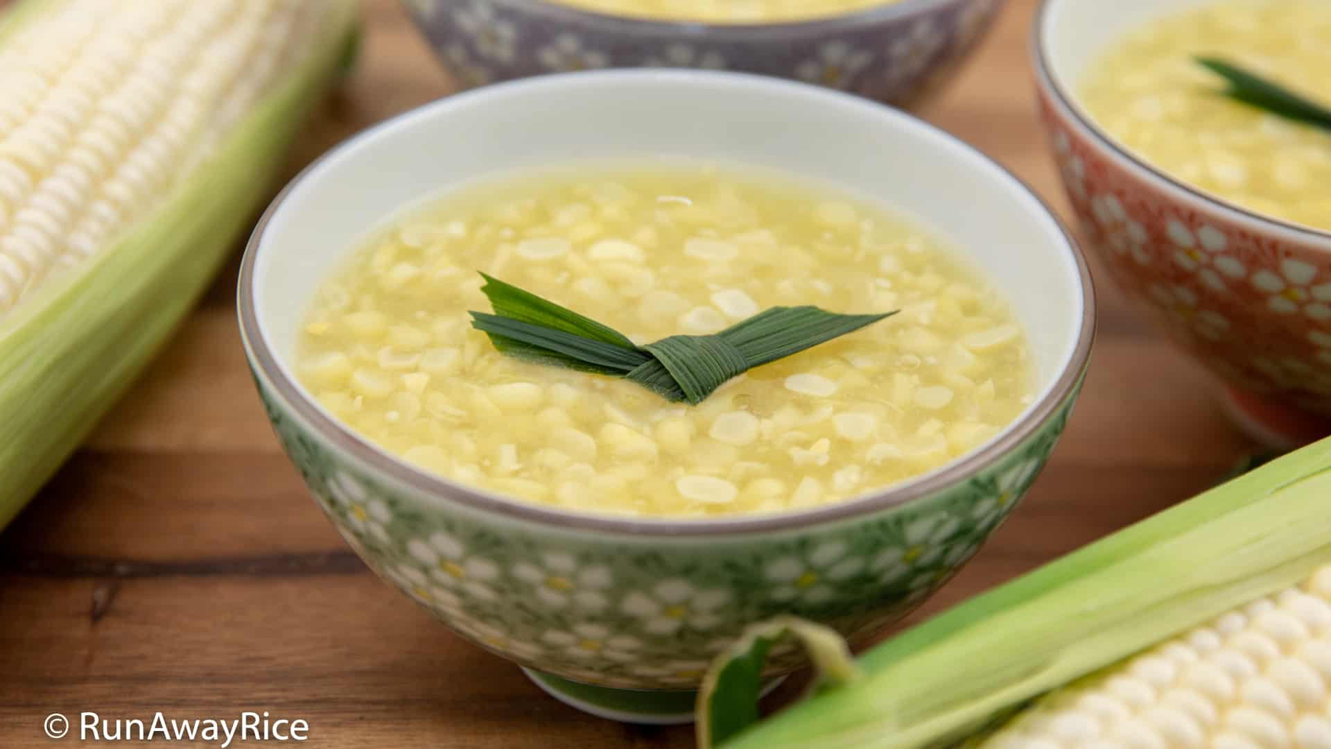 Sweet Corn Pudding (Che Bap) - Best Way to Enjoy Summer Corn | recipe from runawayrice.com