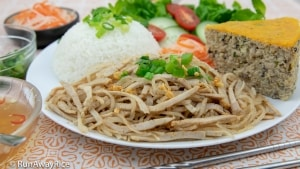 Shredded Pork Skin (Bi Heo) - Amazing Combo Rice Plate! | recipe from runawayrice.com