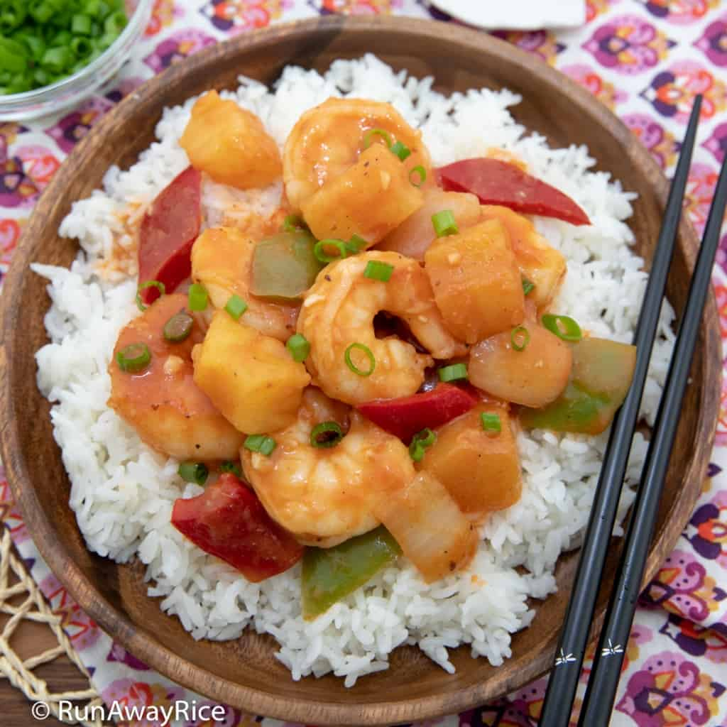 Sweet and Sour Shrimp (Tom Xao Chua Ngot) - Healthy and Delicious! | recipe from runawayrice.com