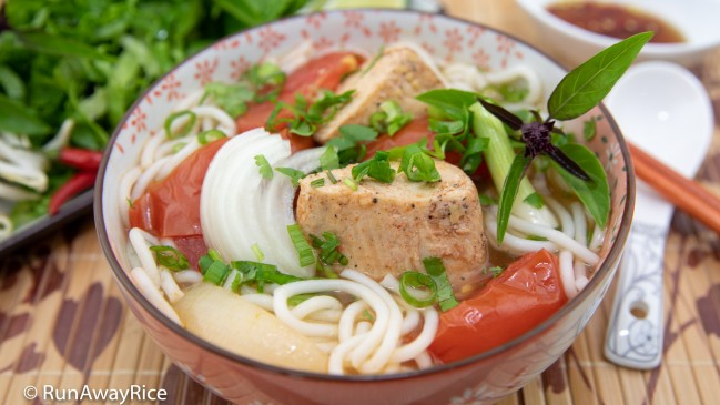 Fish Rice Noodle Soup (Bun Ca) - Better than PHO, Must-Try Noodle Soup! | recipe from runawayrice.com