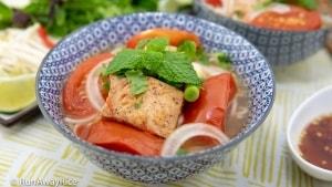 Fish Rice Noodle Soup (Bun Ca) - Authentic Viet Recipe!   recipe from runawayrice.com