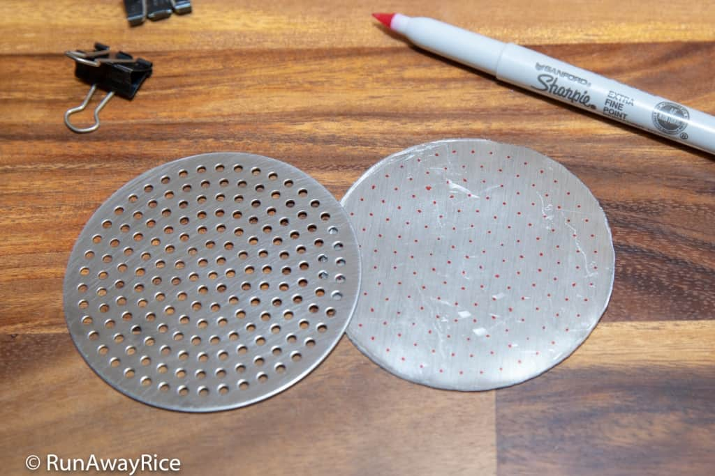How to Make a Vermicelli Disk for the Metaltex Potato Ricer | runawayrice.com