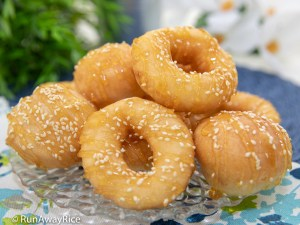 Vietnamese Donuts (Banh Cam Banh Vong) - Scrumptious Gluten-Free Donuts! | recipe from runawayrice.com