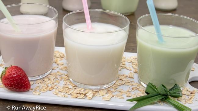 Oat Milk (Sua Yen Mach) - Dairy/Nut/Gluten-Free Milk Alternative | recipe from runawayrice.com