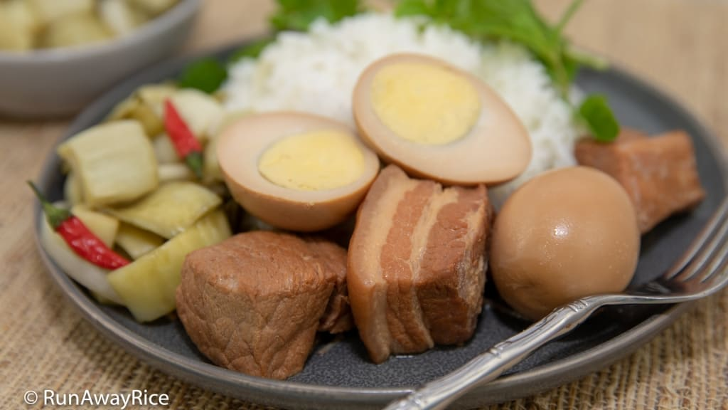 Instant Pot Caramelized Pork and Eggs (Thit Kho Trung) - Busy Gal's Recipe! | recipe from runawayrice.com