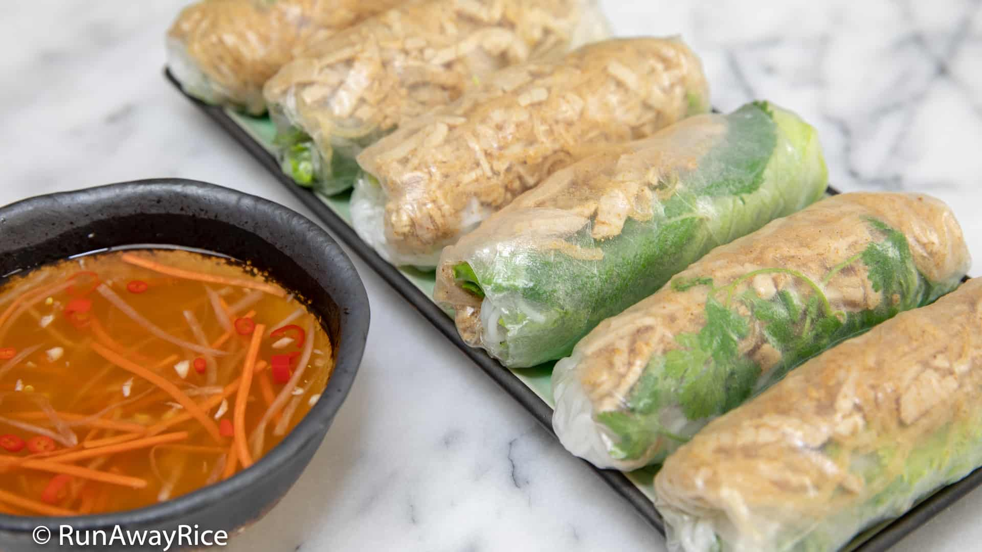 Shredded Pork Skin Fresh Spring Rolls Bi Cuon Easy Recipe With Video